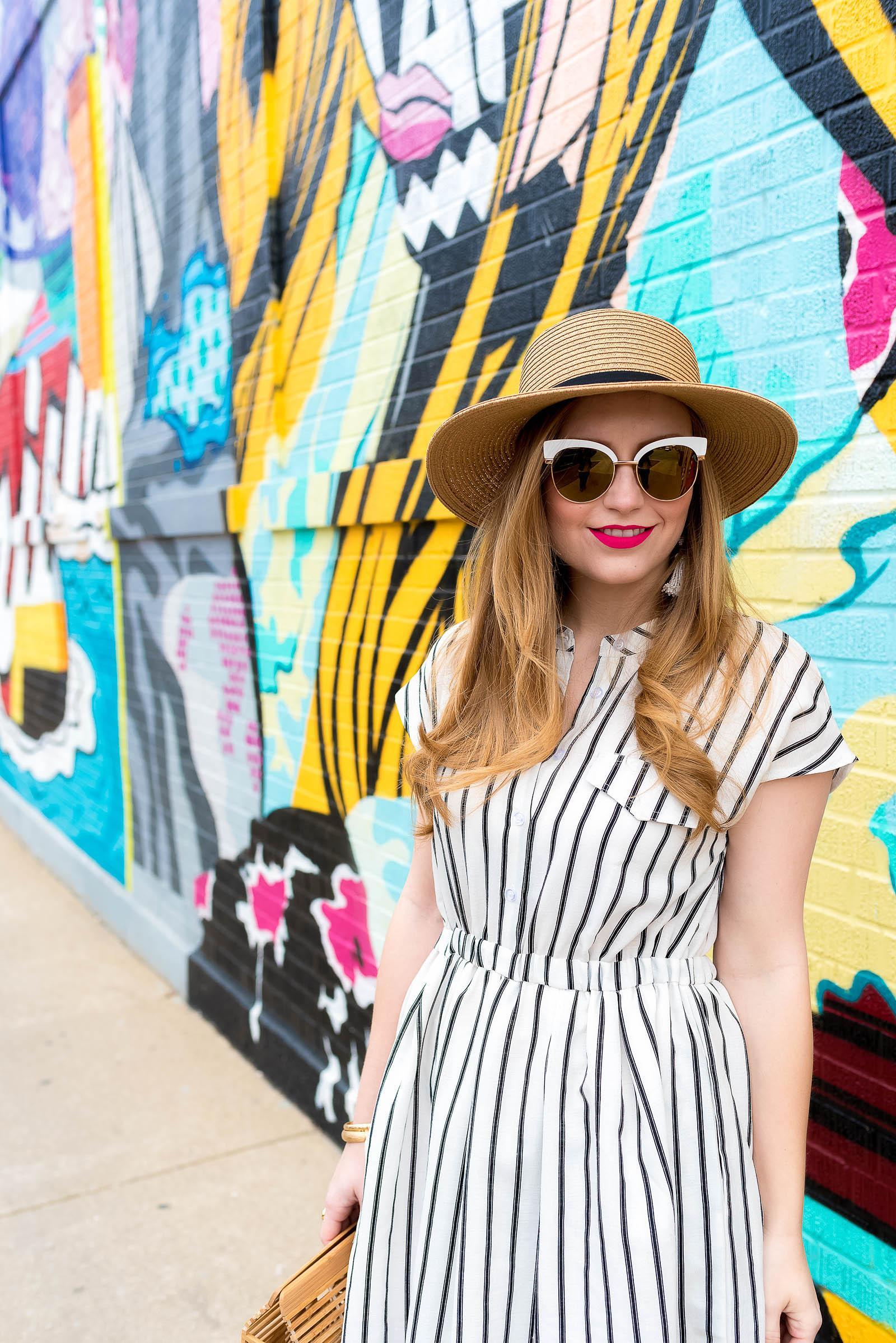 Striped Summer 2017 Dress Gaia Ark Bag
