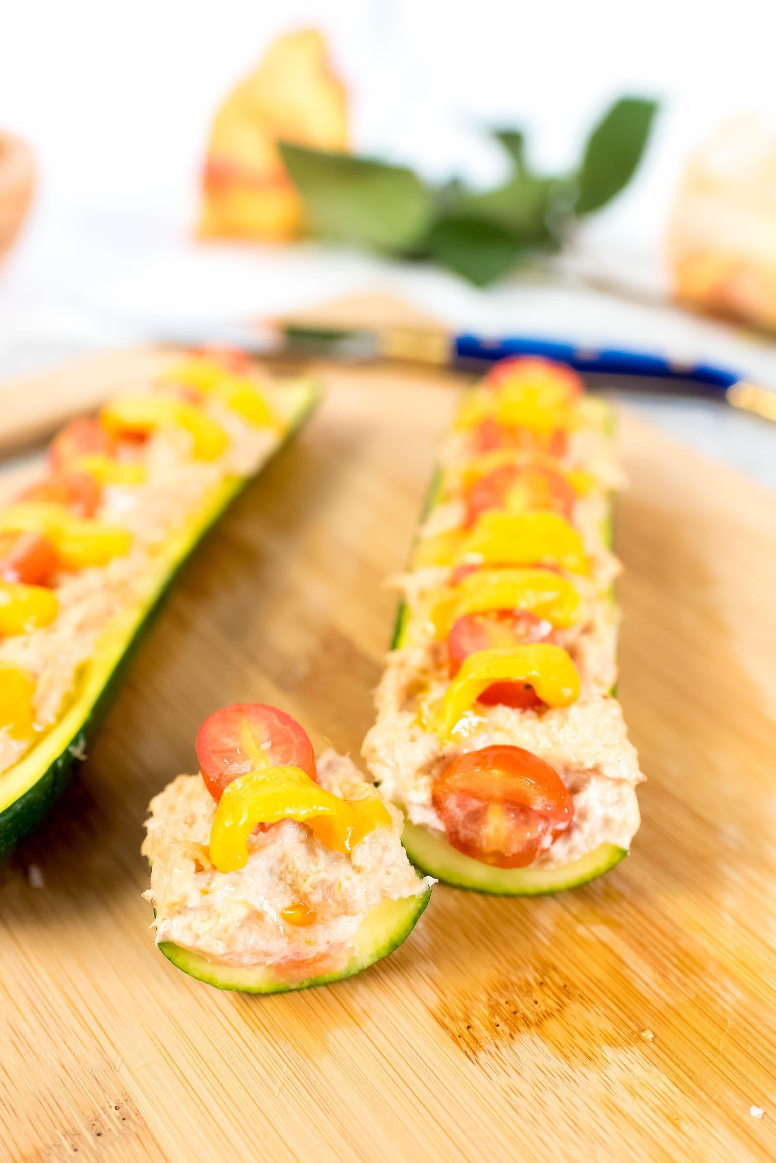 Classic Tuna Melt Zucchini Boat Recipe