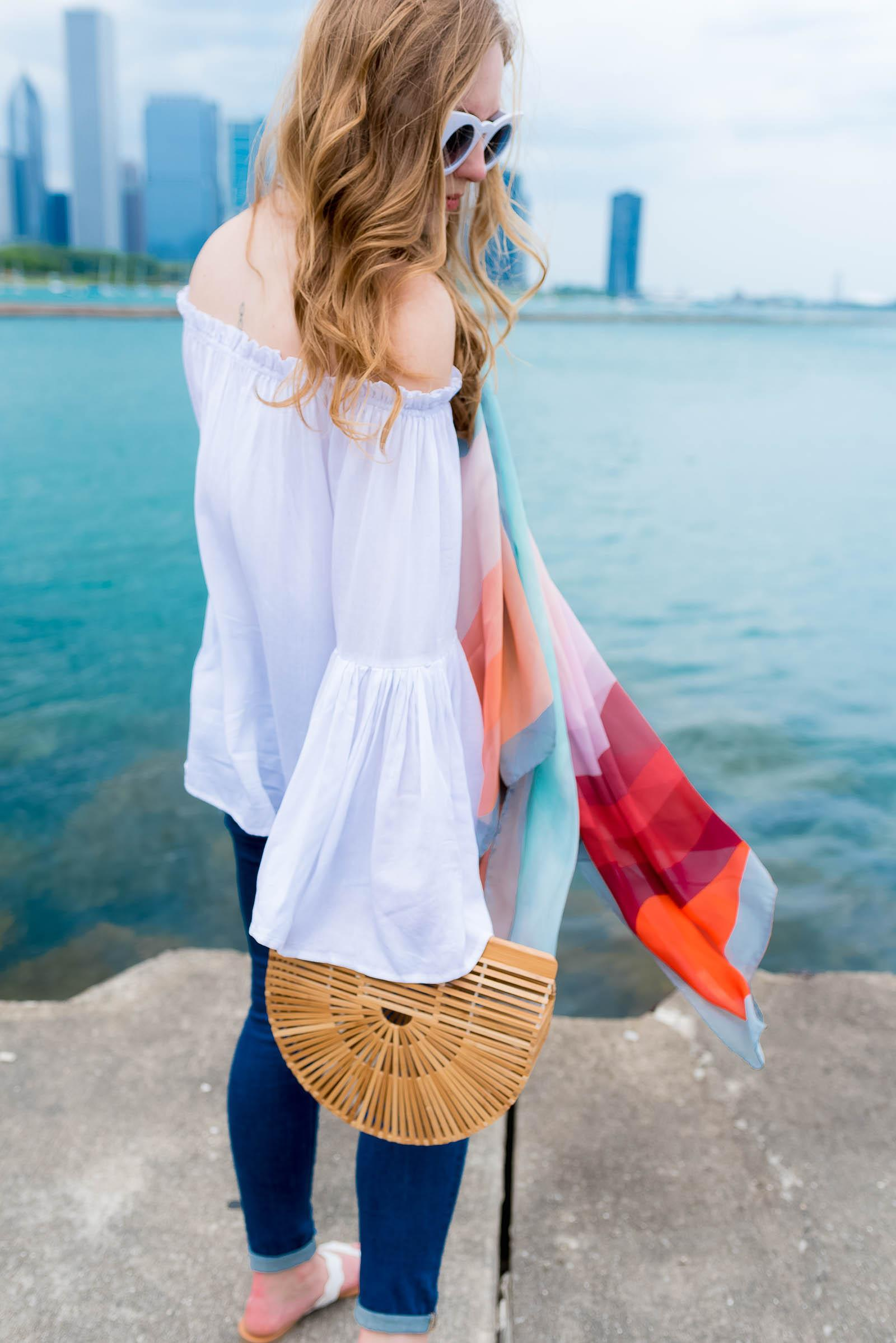 Cult Gaia Ark Bag Chic Summer Outfit