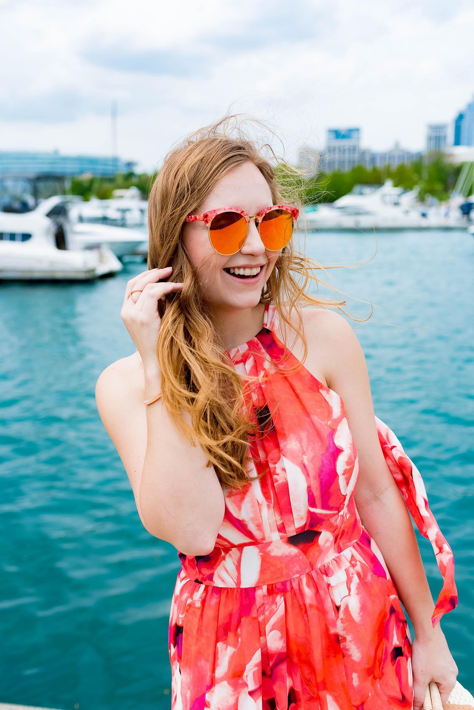 Eliza J Pink Chiffon Maxi Dress Summer Style