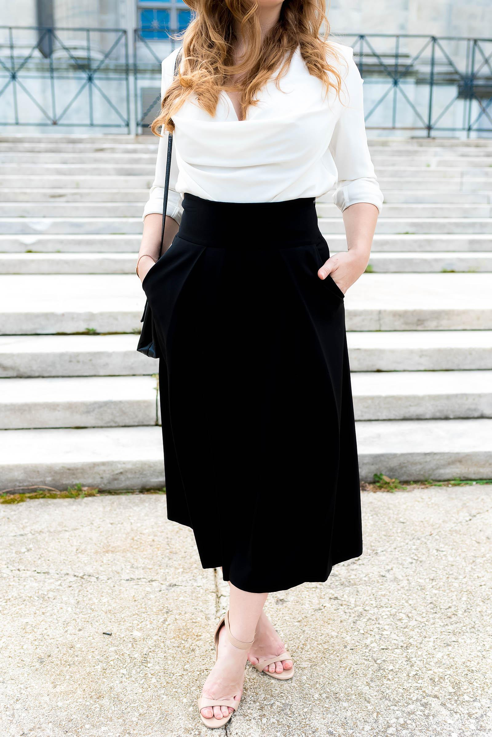 Classic Vintage-Inspired Black and White Summer Outfit