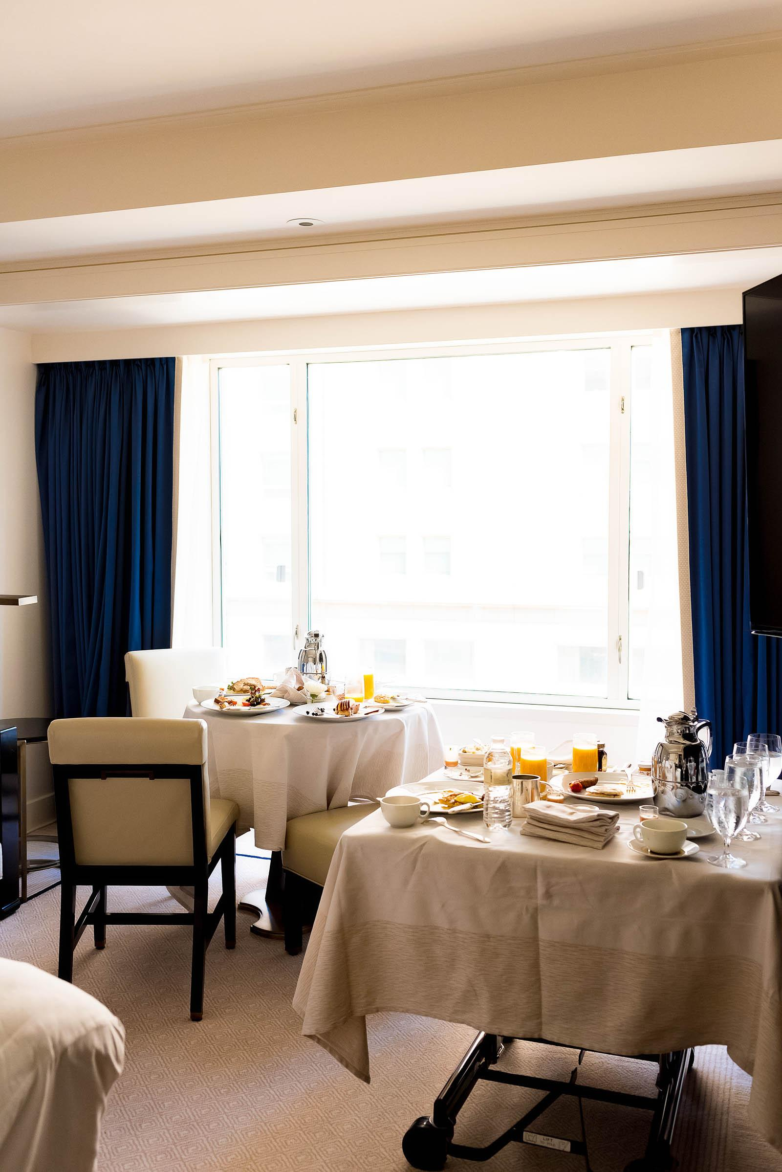 Peninsula Chicago Hotel Girl's Staycation Room Service Breakfast