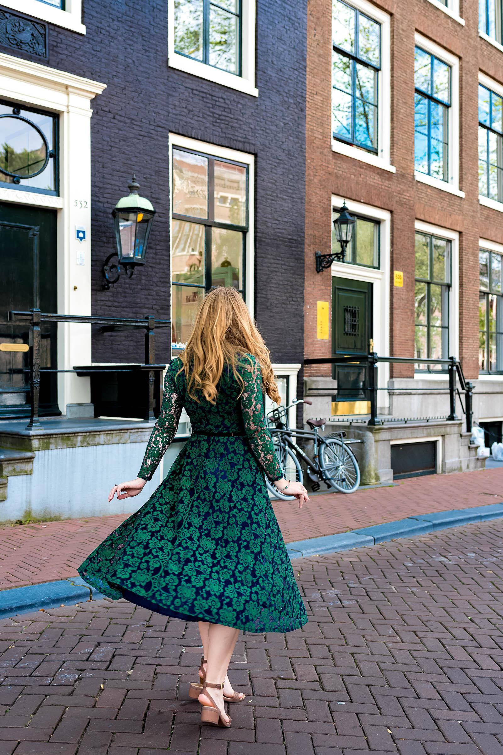 Green Lace Birthday Dress