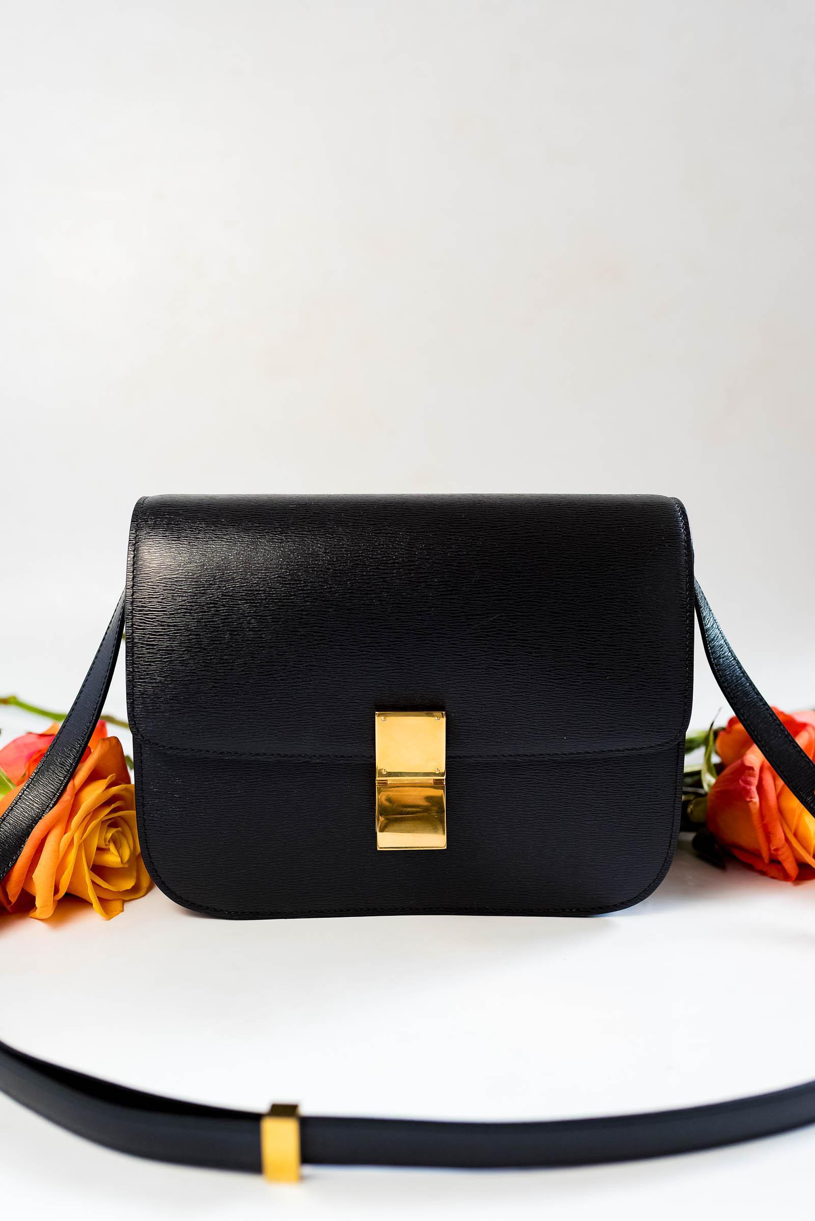 Céline Box Bag Review, 2015 Medium Black
