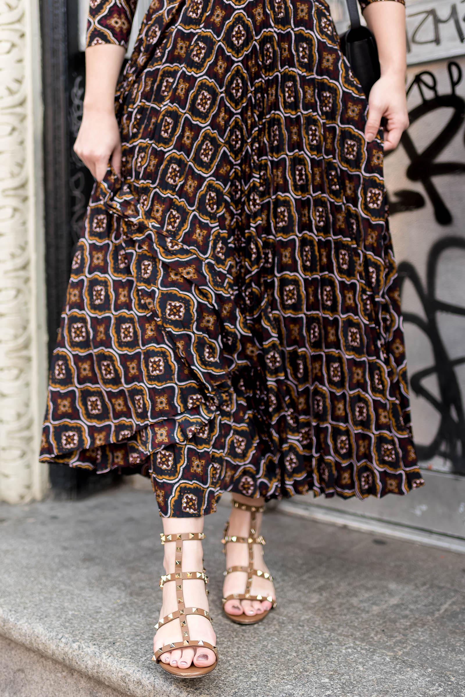 ALC NYFW Dress Celine Box Bag Valentino Sandals