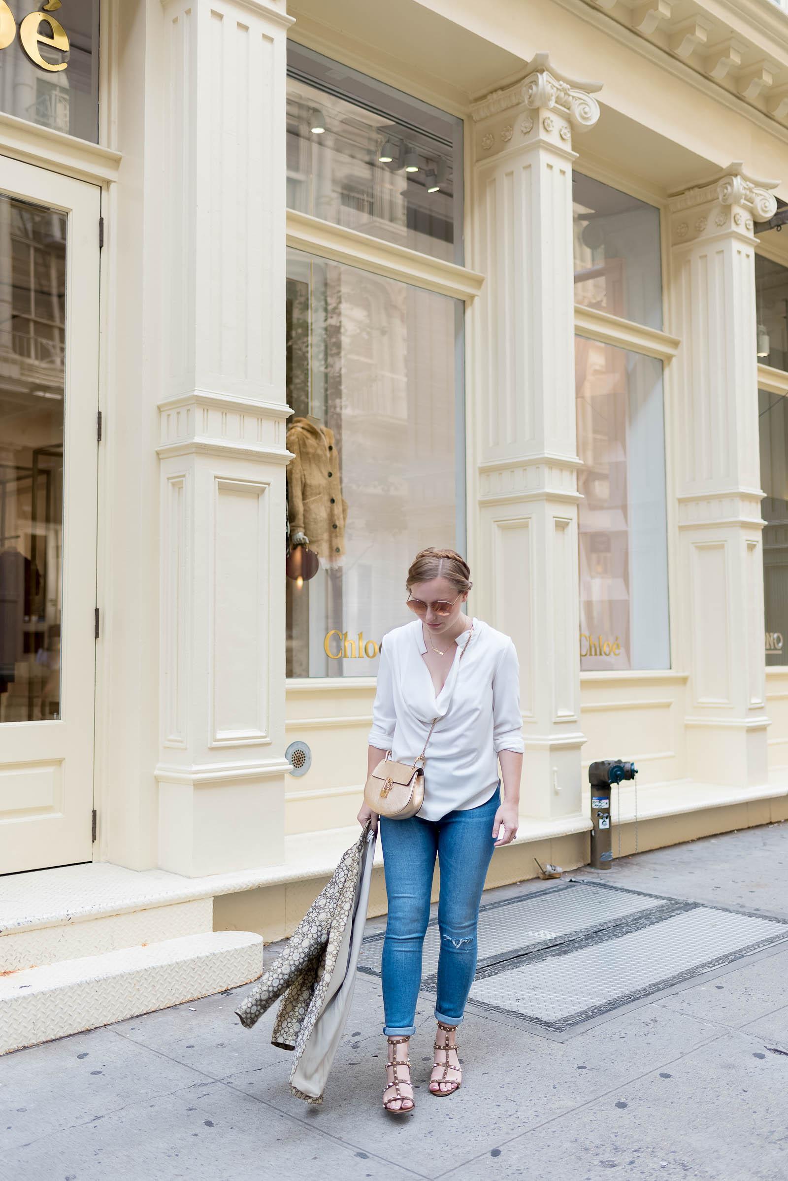 NYFW Soho Street Style in Jeans