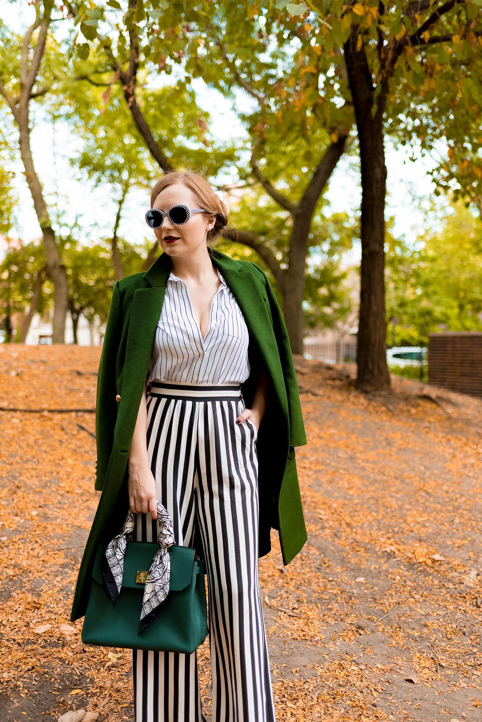 Stripe Green Street Style