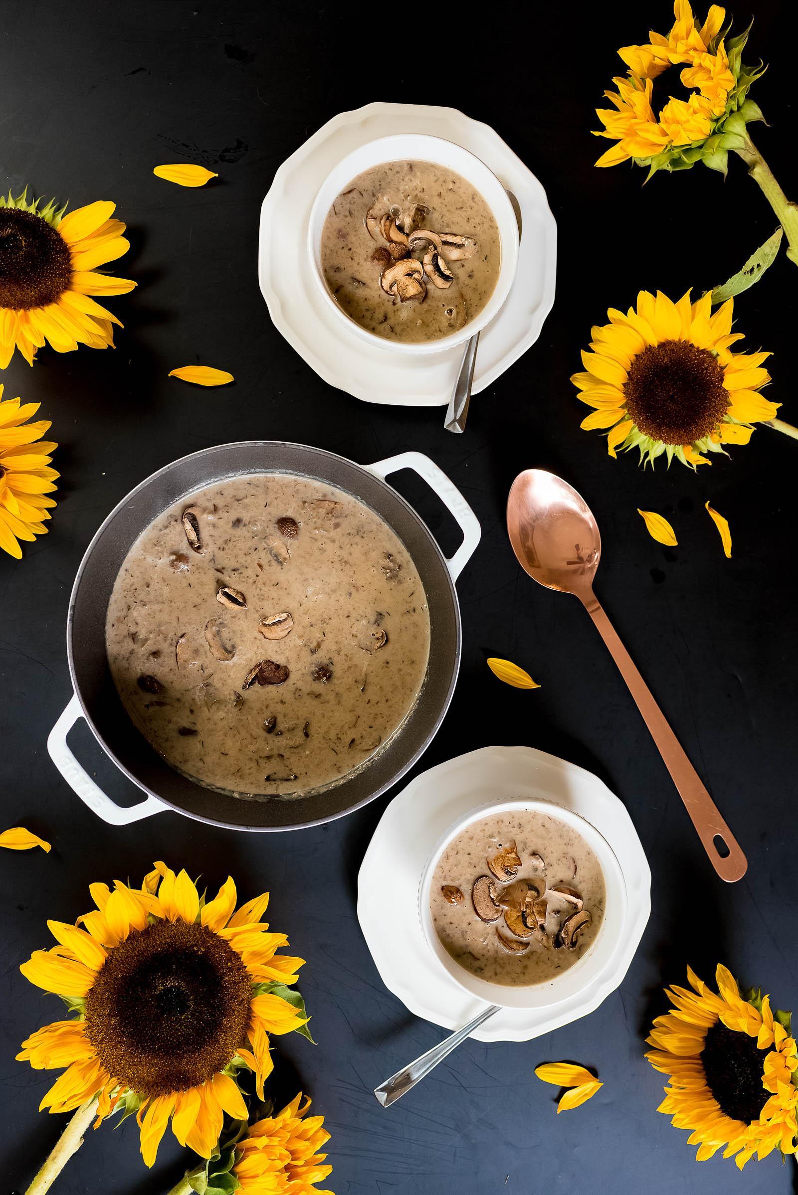 Mushroom Brie Soup Recipe