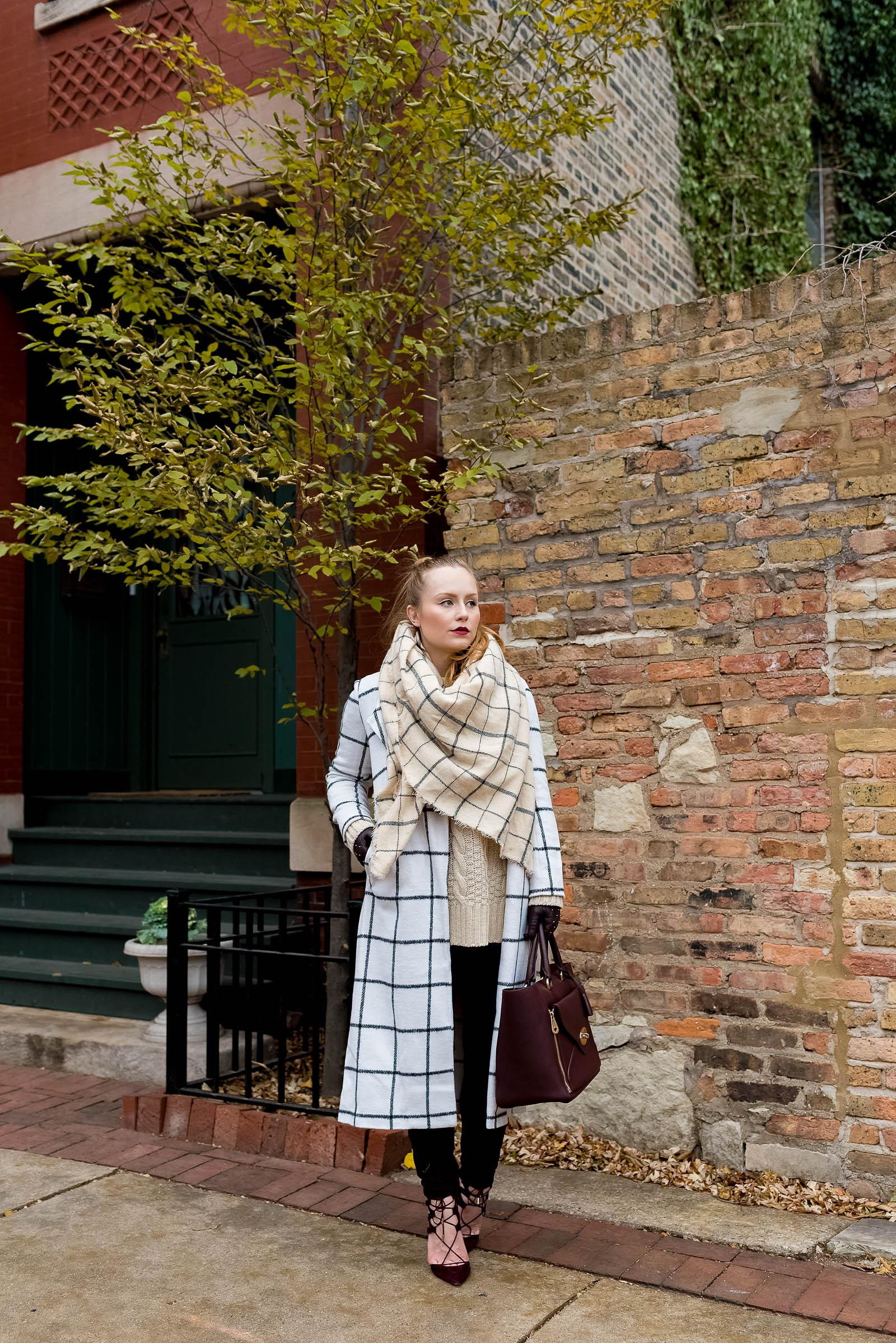 Easy Winter Blanket Scarf Outfit