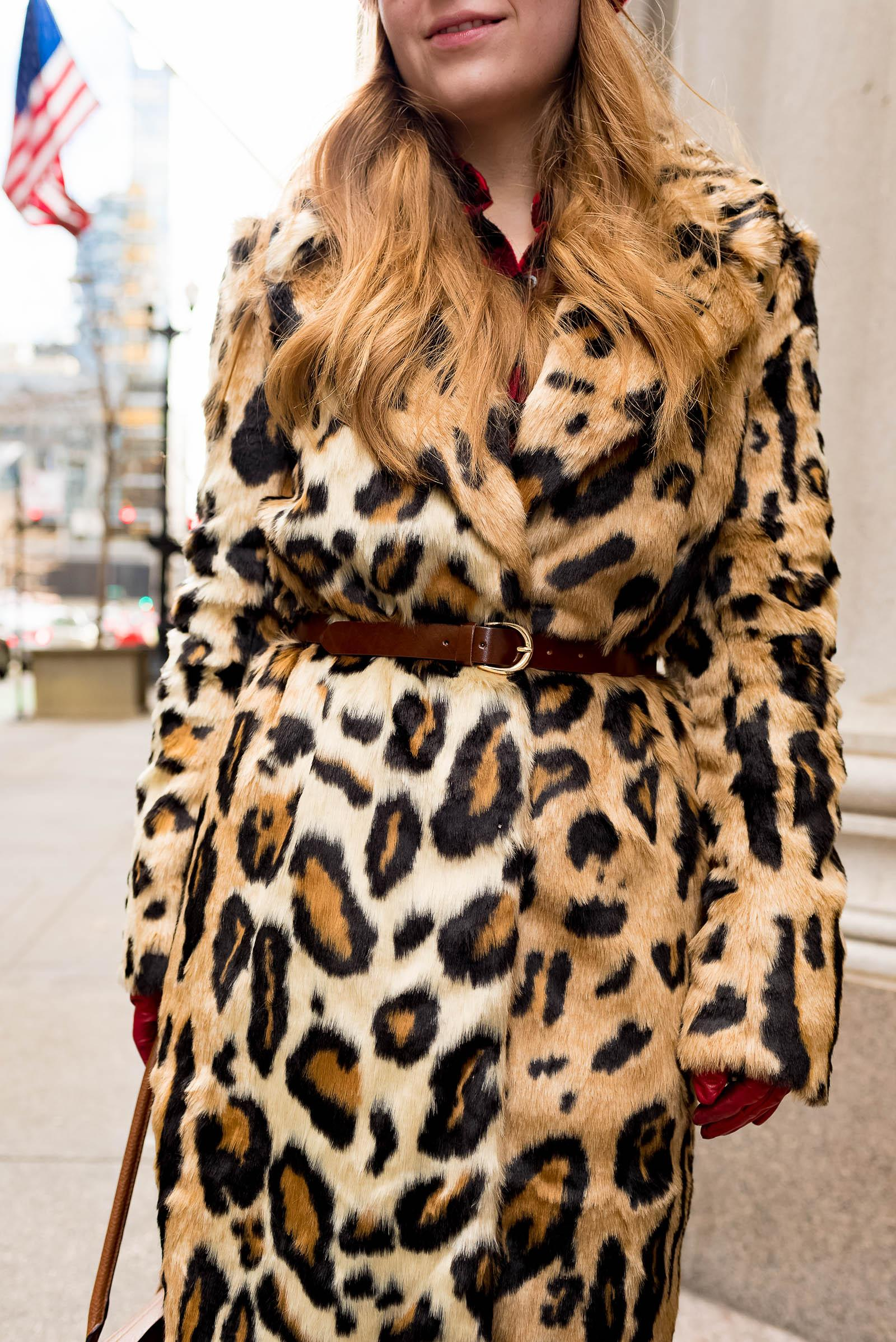Faux Fur Coat Winter Outfit