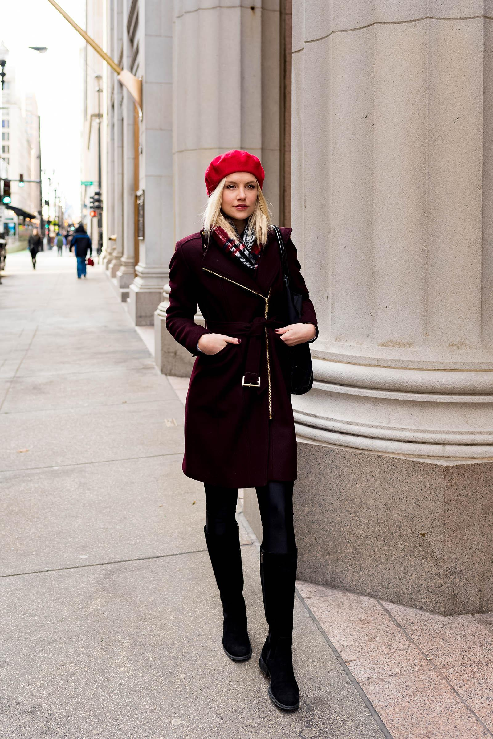 Chic Beret Winter Outfit
