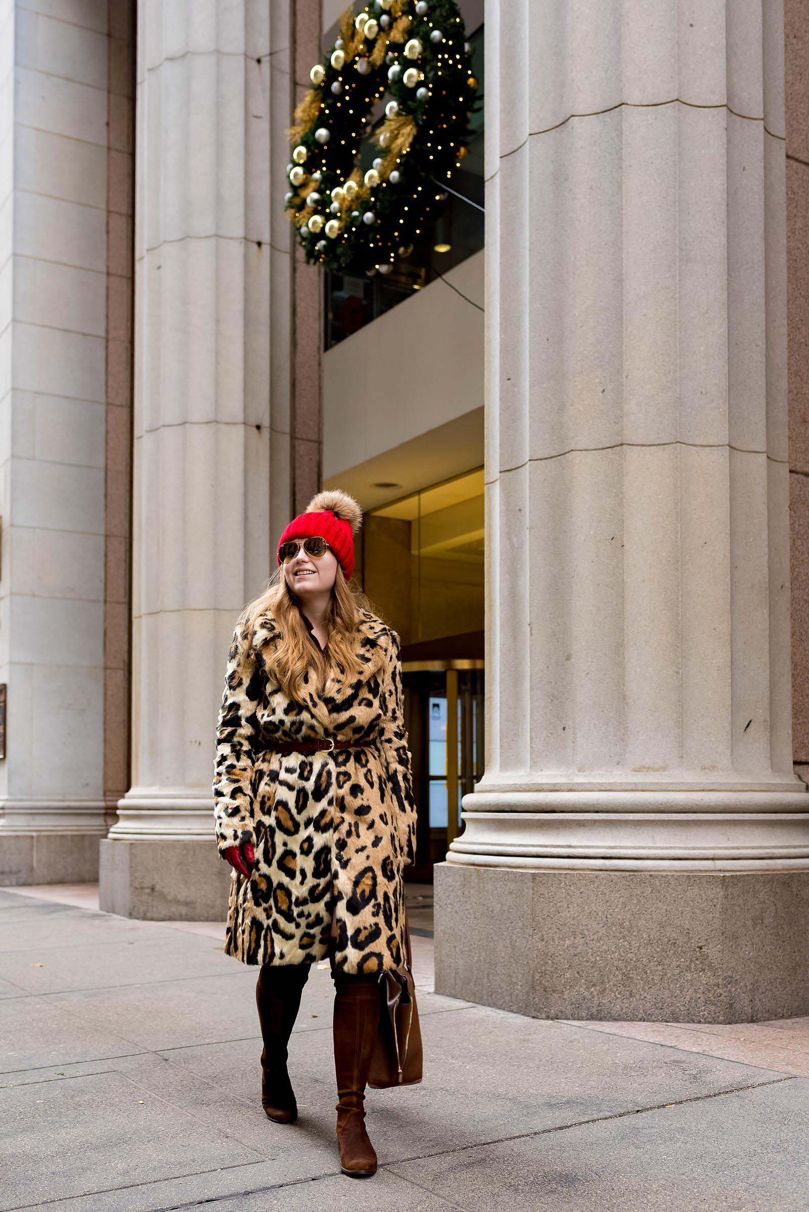 Faux Fur Coat Winter Outfit