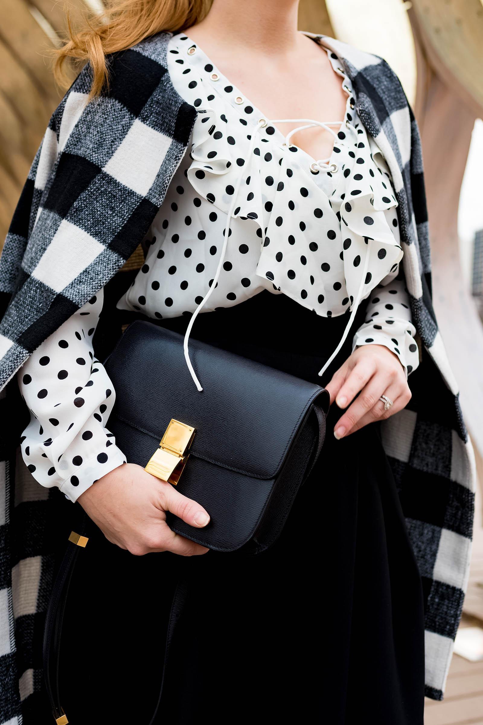 Plaid Polka Dot Outfit
