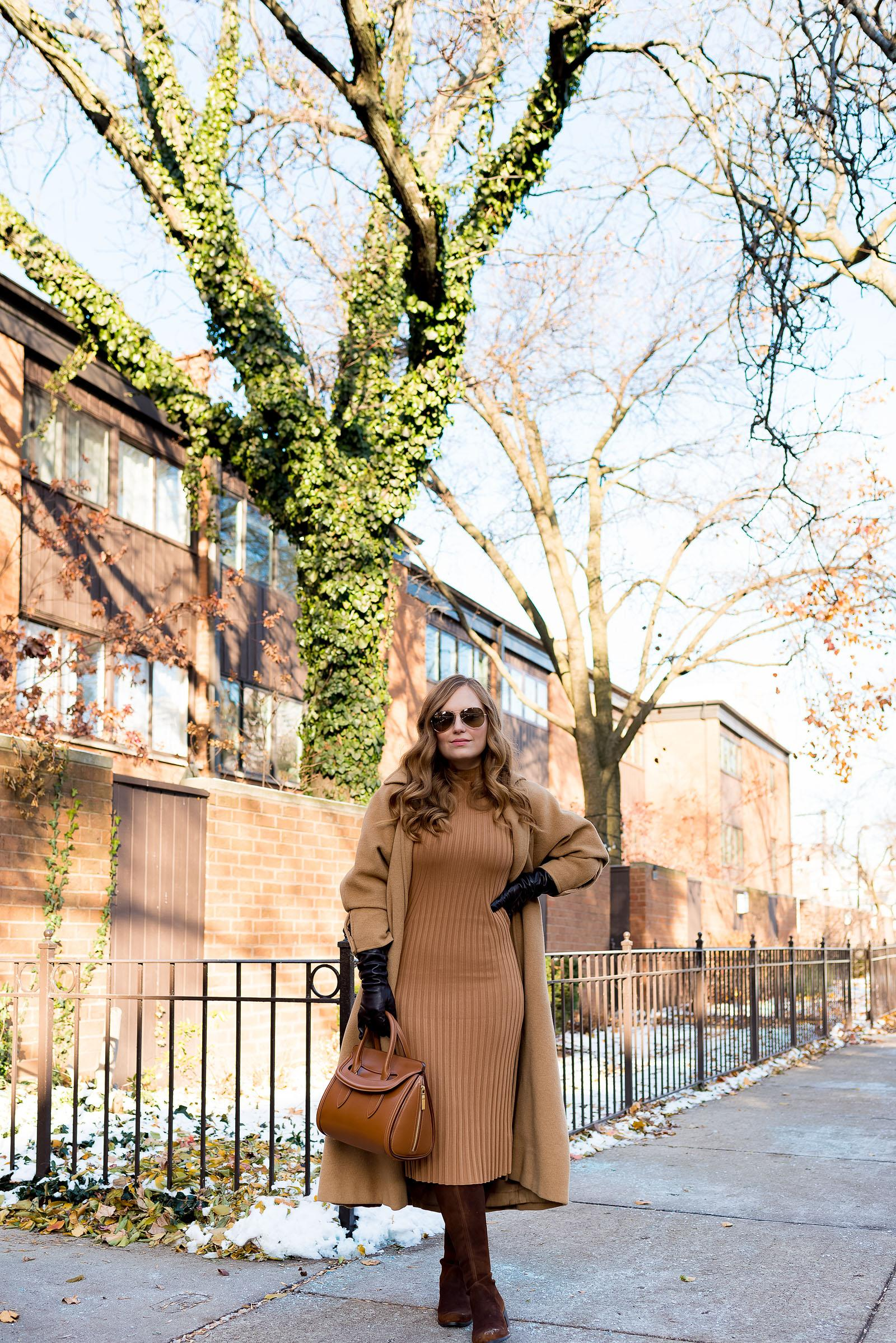 Vintage Tan & Camel Winter Outfit