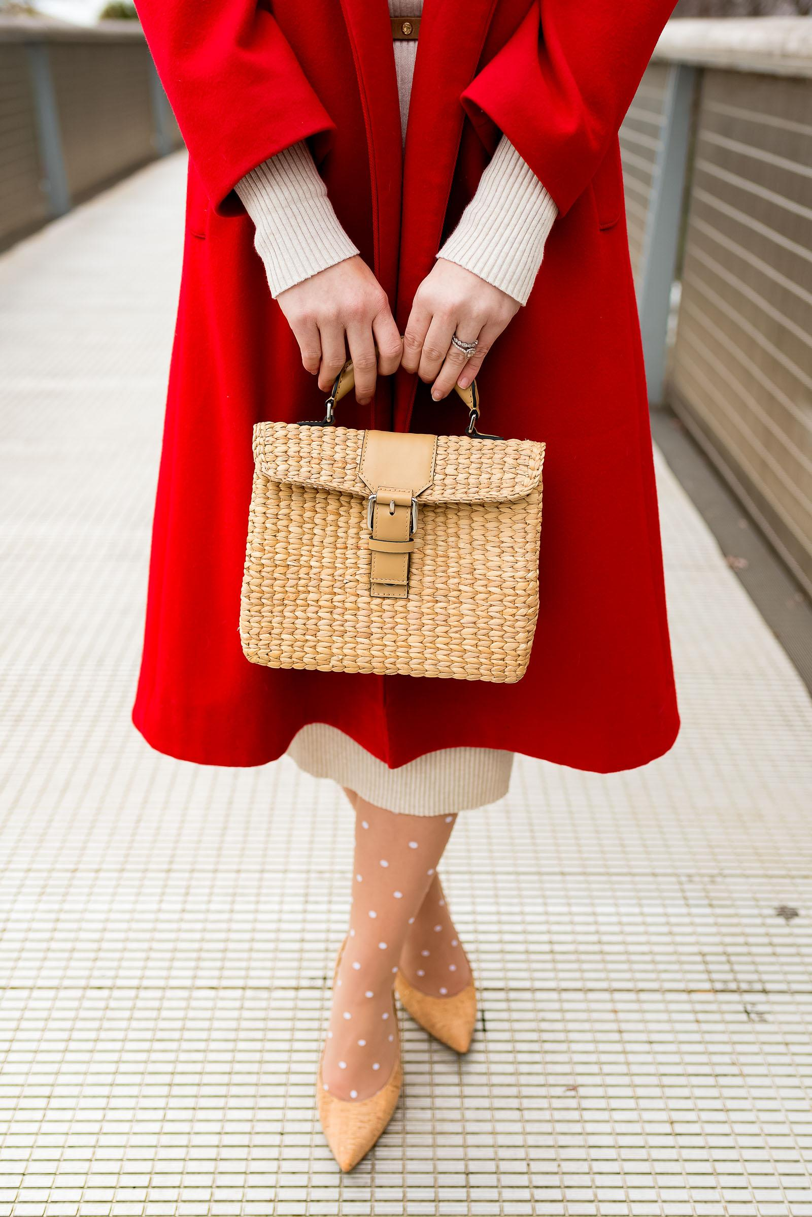 Vintage Red & Nude Winter Outfit