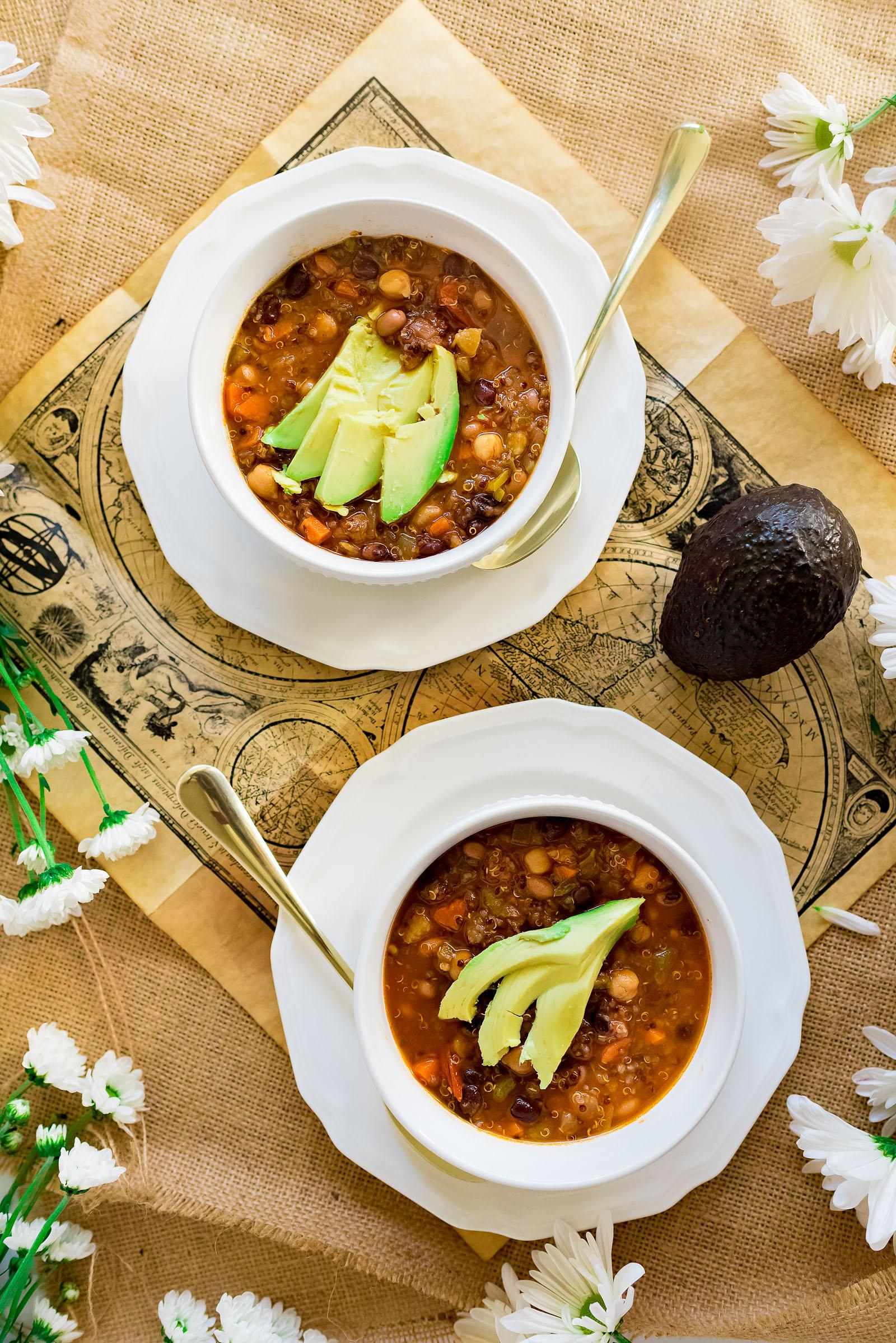 Vegetarian Quinoa Chili Soup Recipe