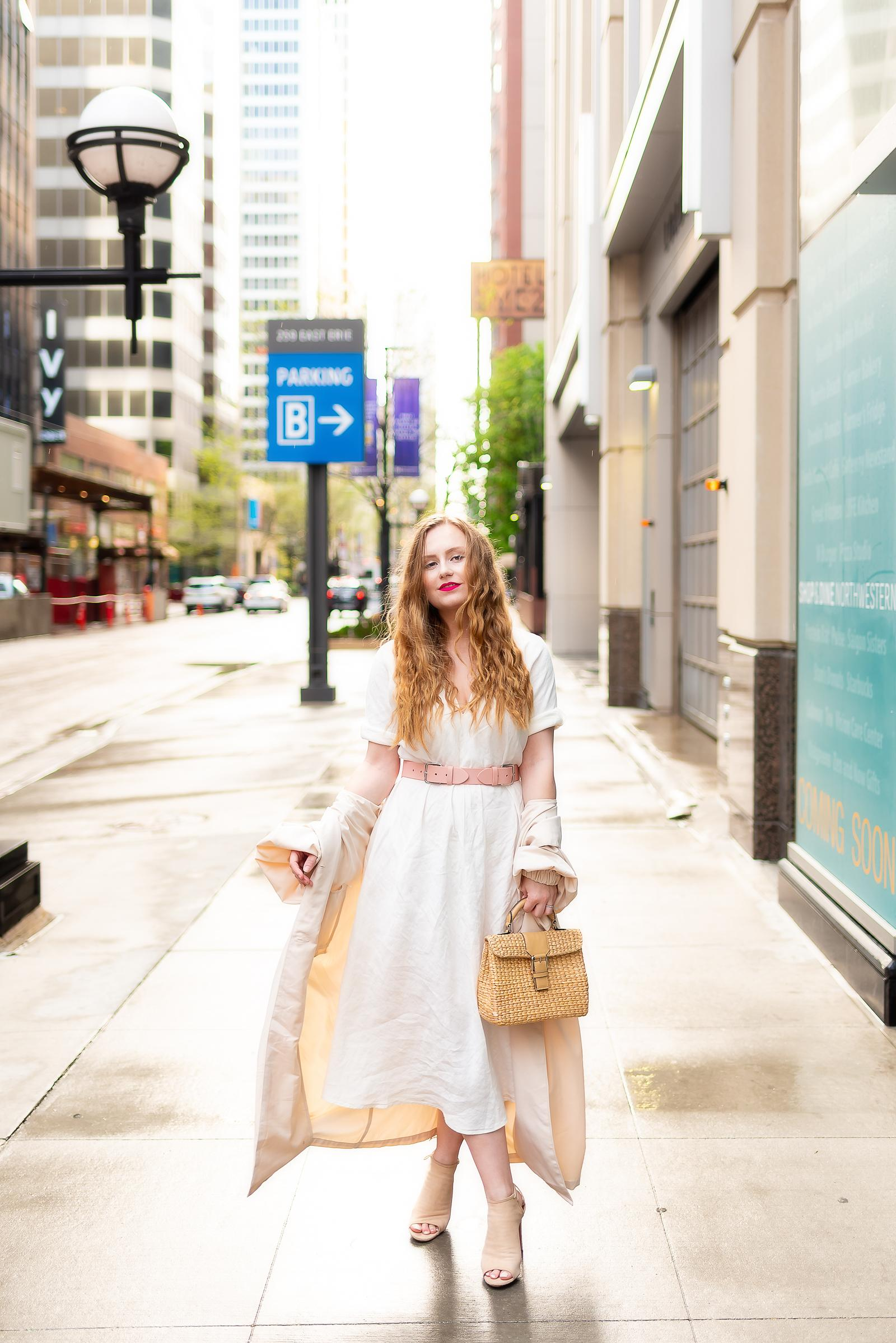 White Linen Spring Outfit
