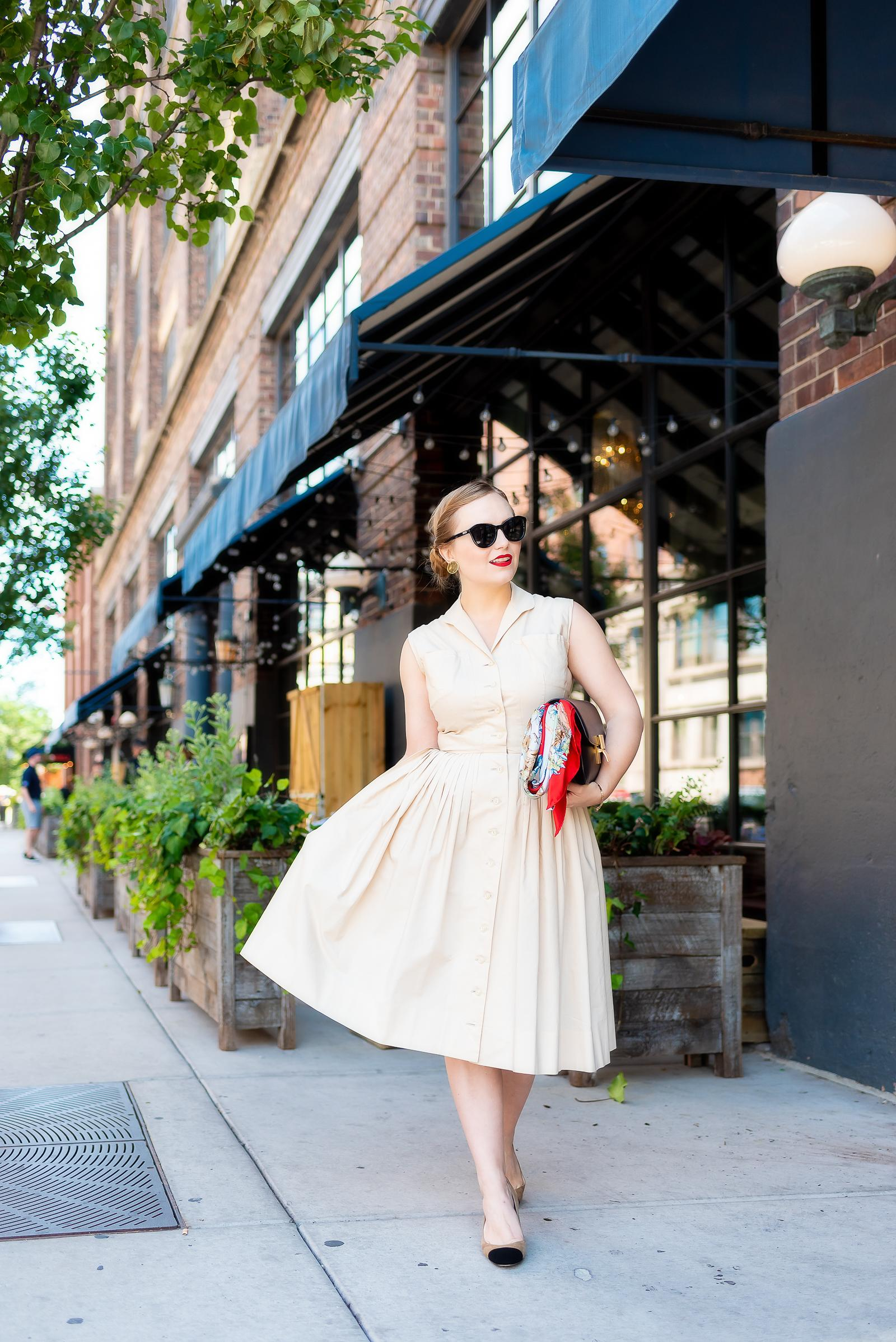 Nude Vintage Shirt Dress