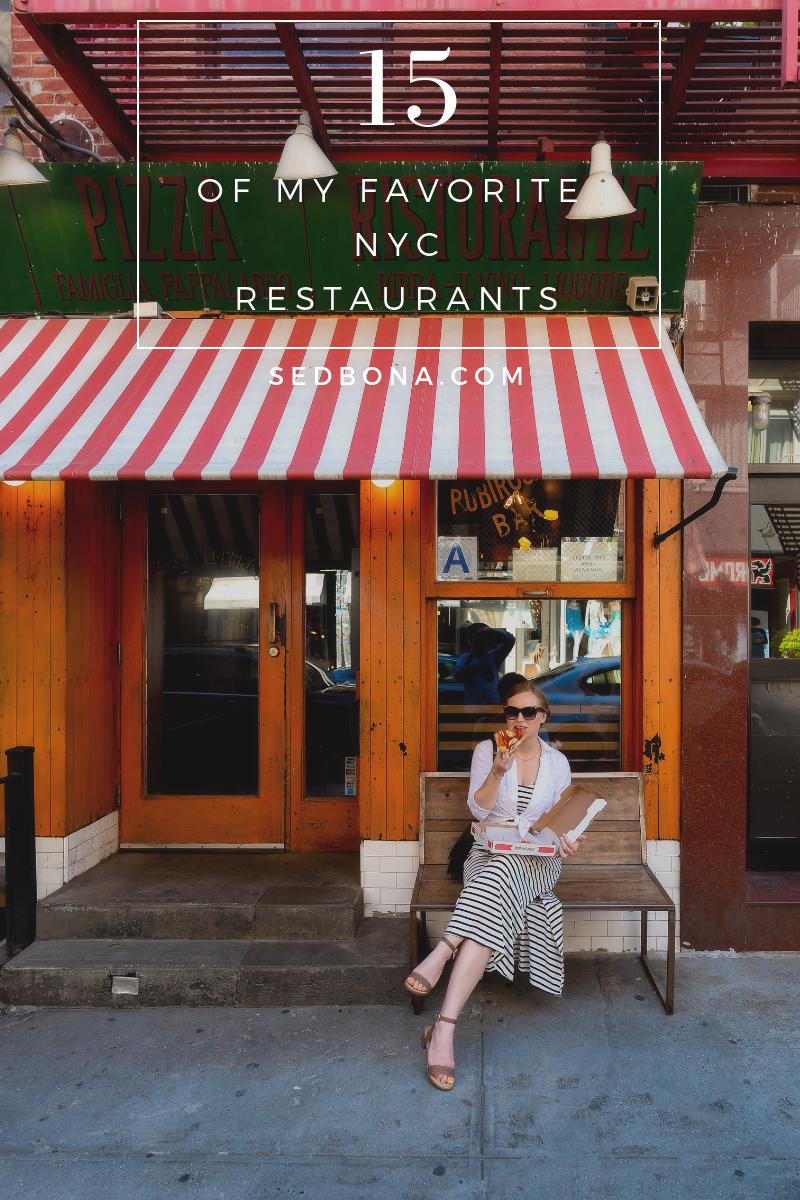 15 Favorite NYC Restaurants