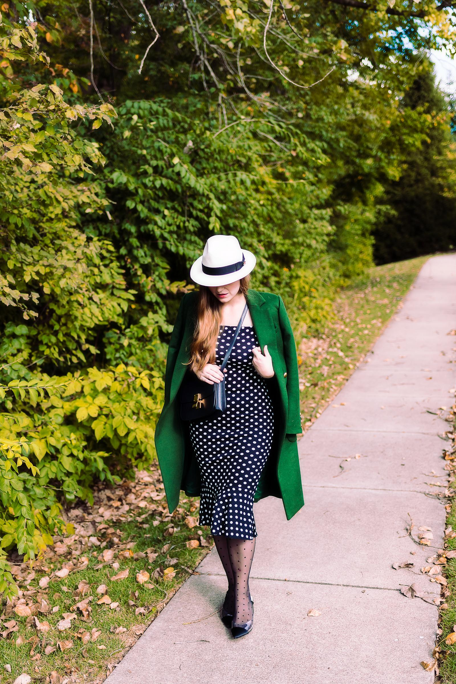 Polka Dot Fedora Outfit
