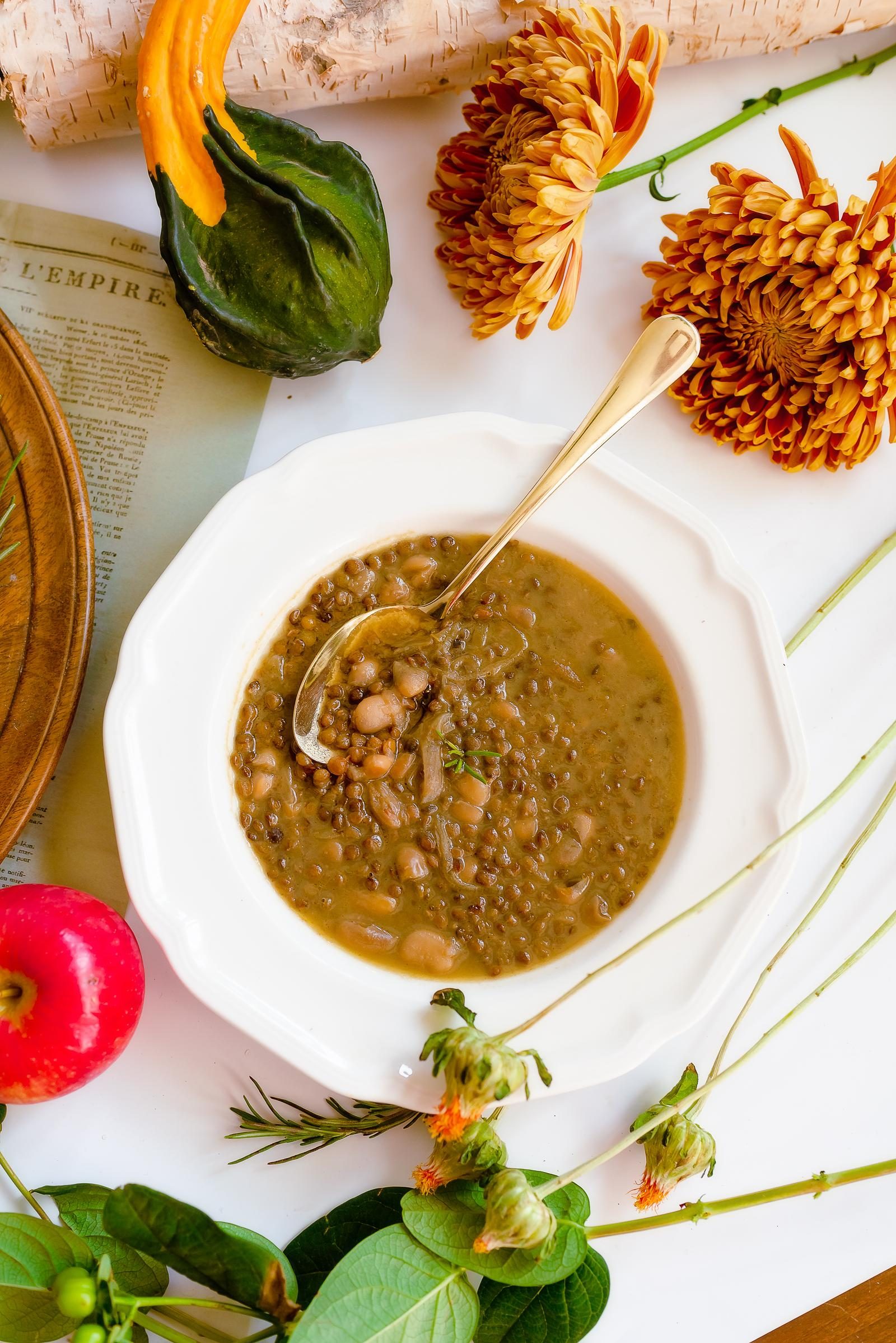 Lentil Bean Soup with Rosemary Recipe