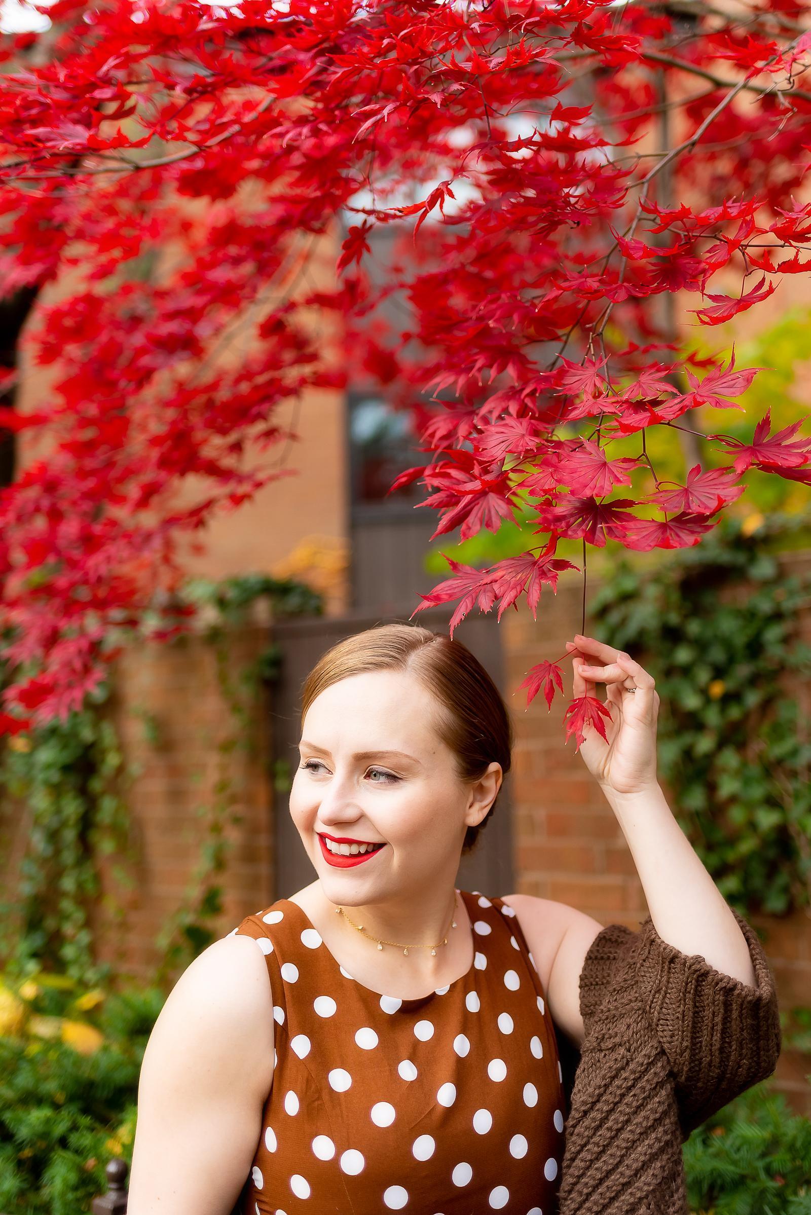 Polka Dot Thanksgiving Outfit