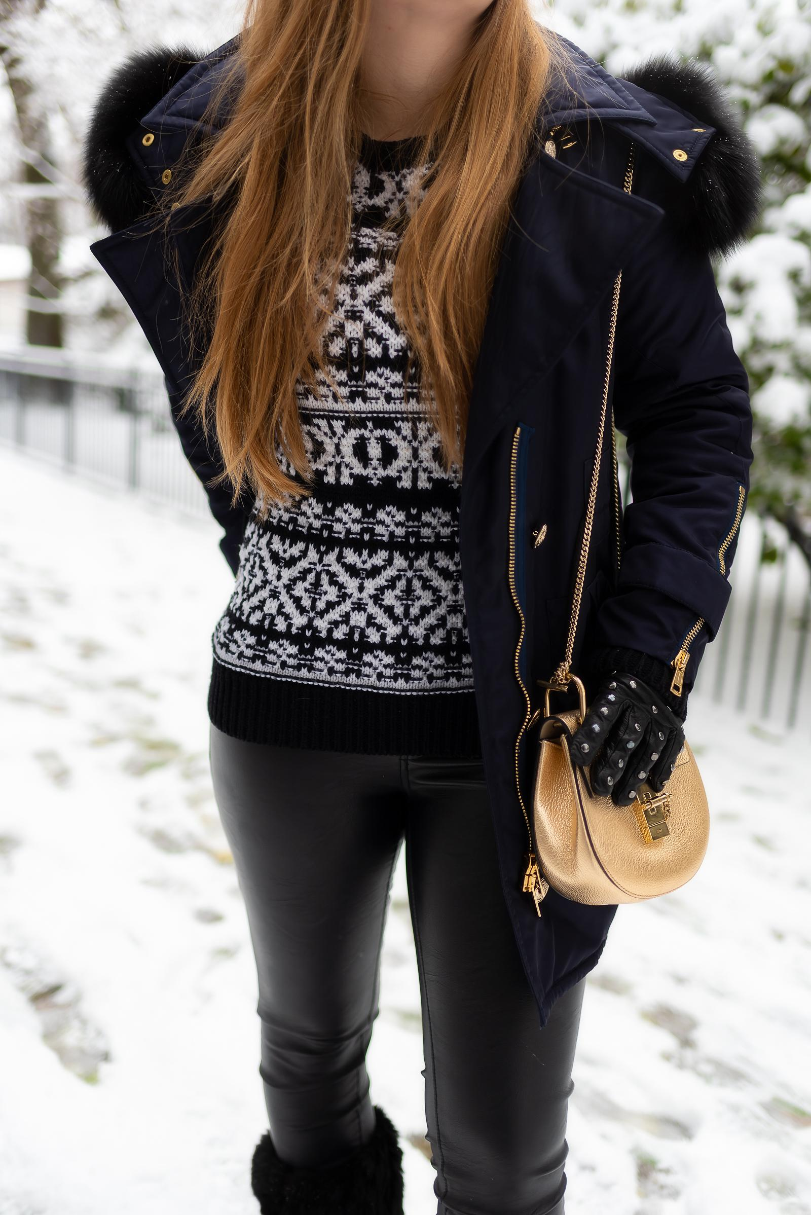 Navy Fair Isle Snow Outfit