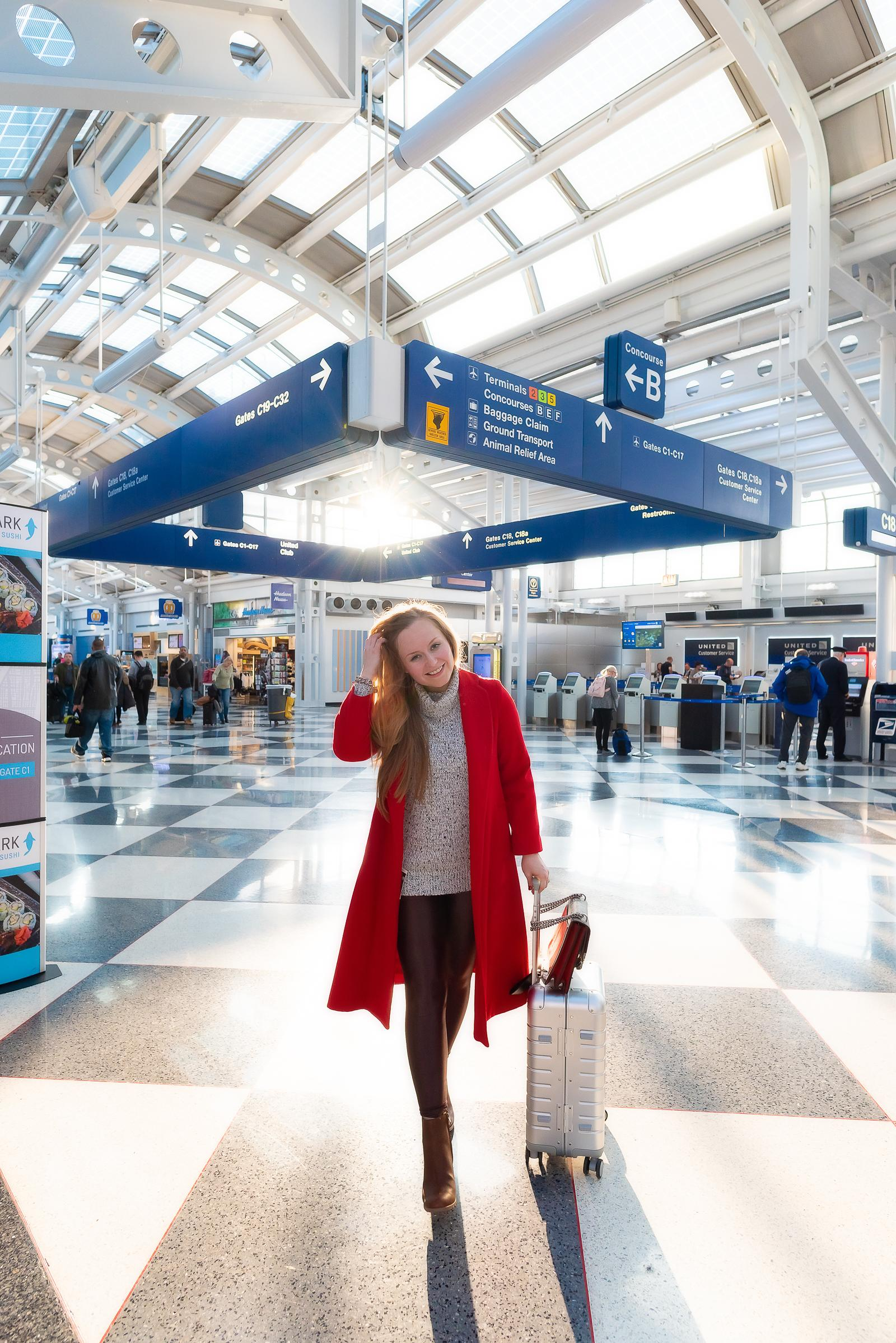 O'Hare Airport Travel Outfit