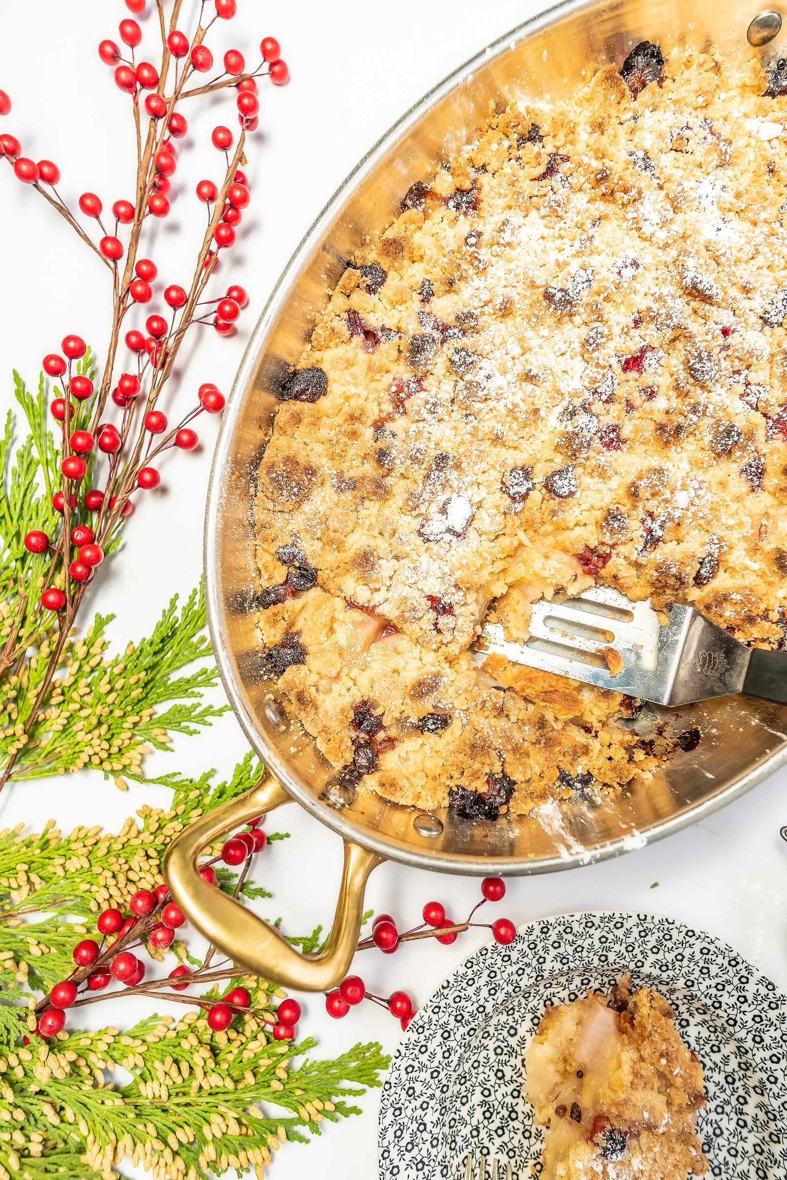 Pear & Cranberry Slices for Christmas