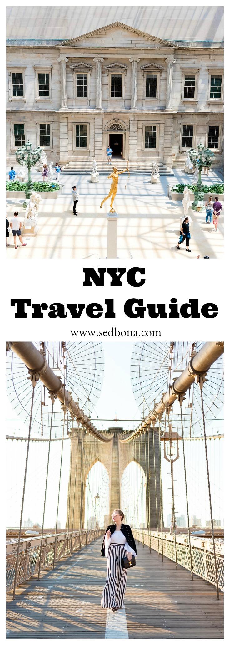 NYC Travel Guide Sed Bona