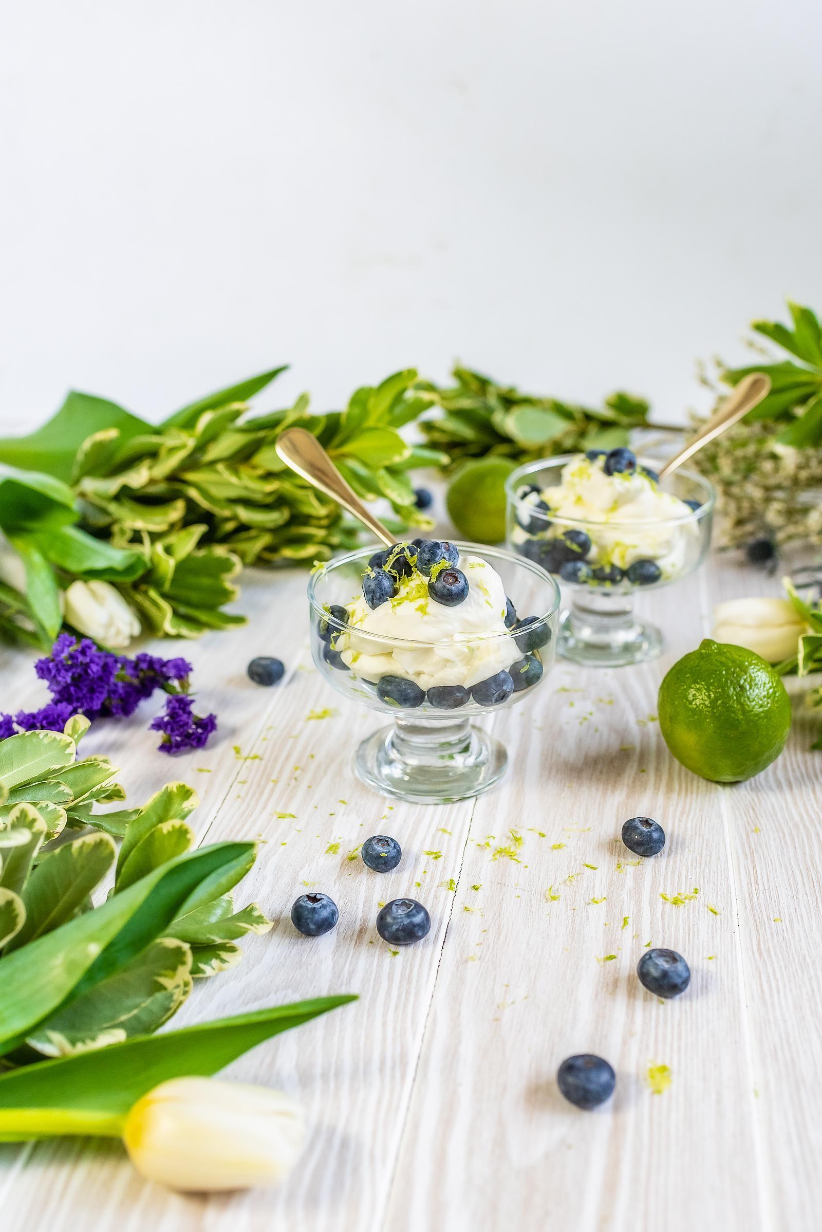 Blueberries & Whipped Cream Recipe