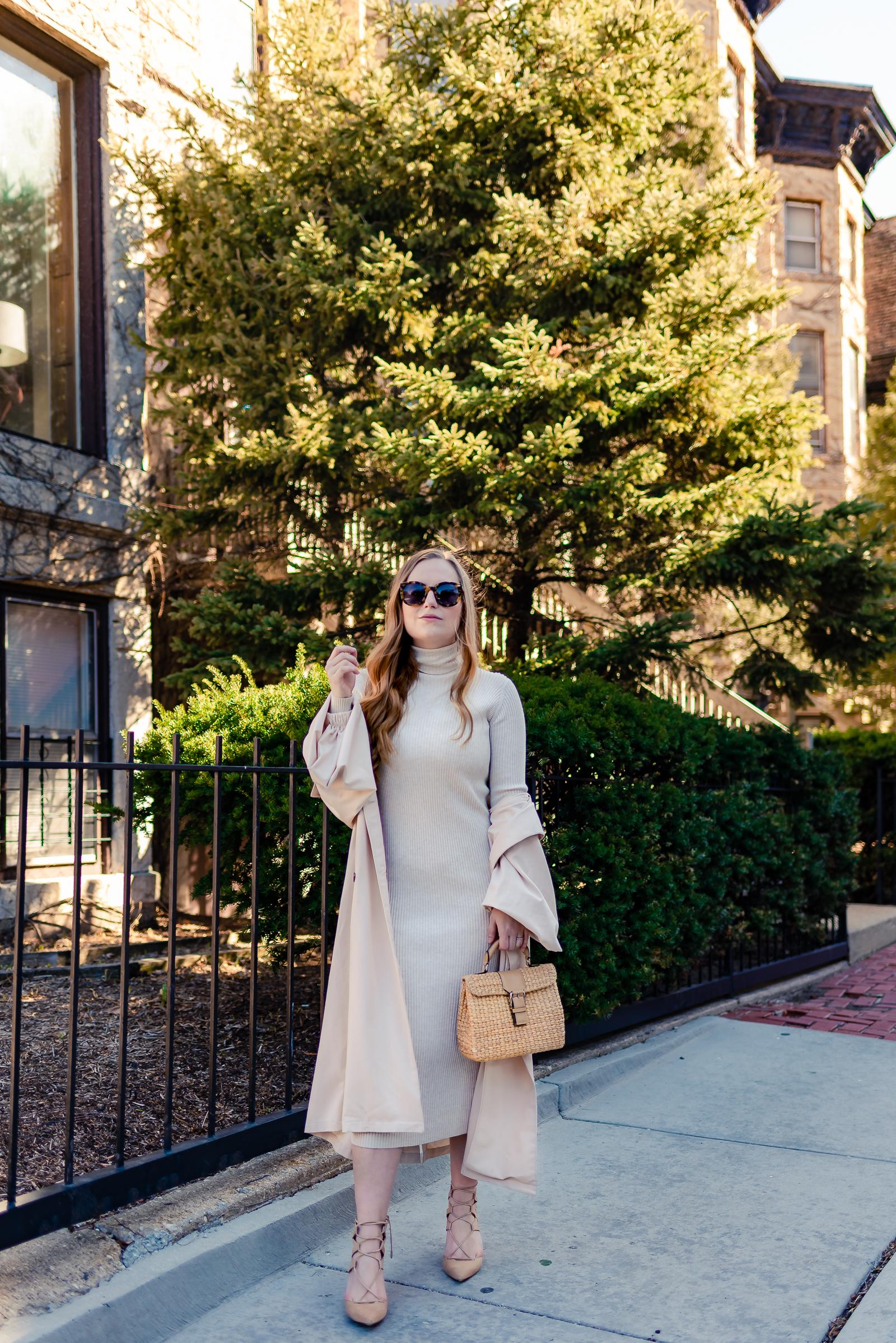 Nude Spring Trench Outfit